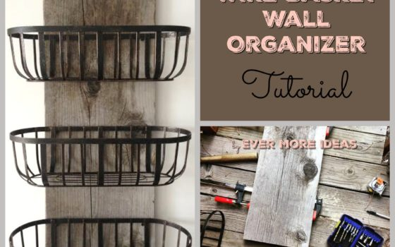 Wire Baskets Organizer DIY