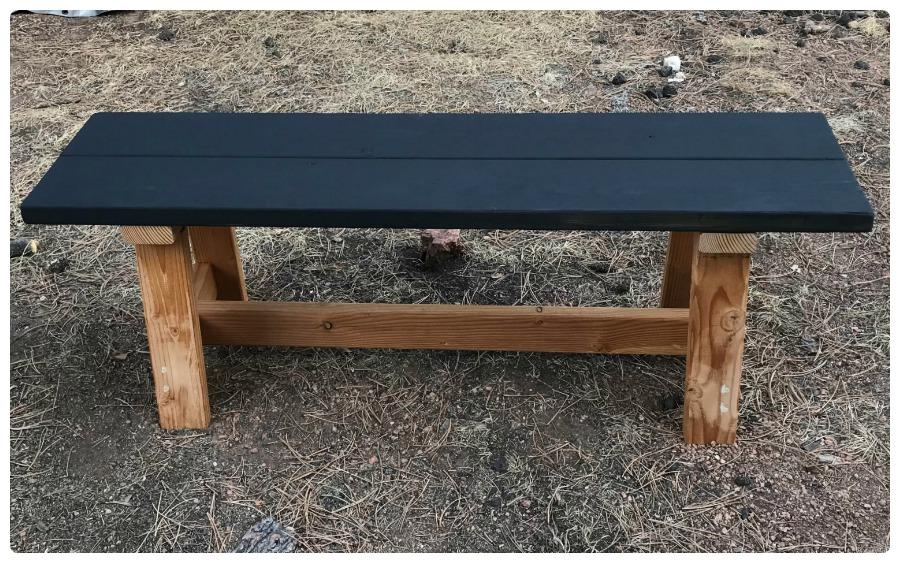 Enjoyable Striped Boho Bench Diy Girls Build Club Pabps2019 Chair Design Images Pabps2019Com