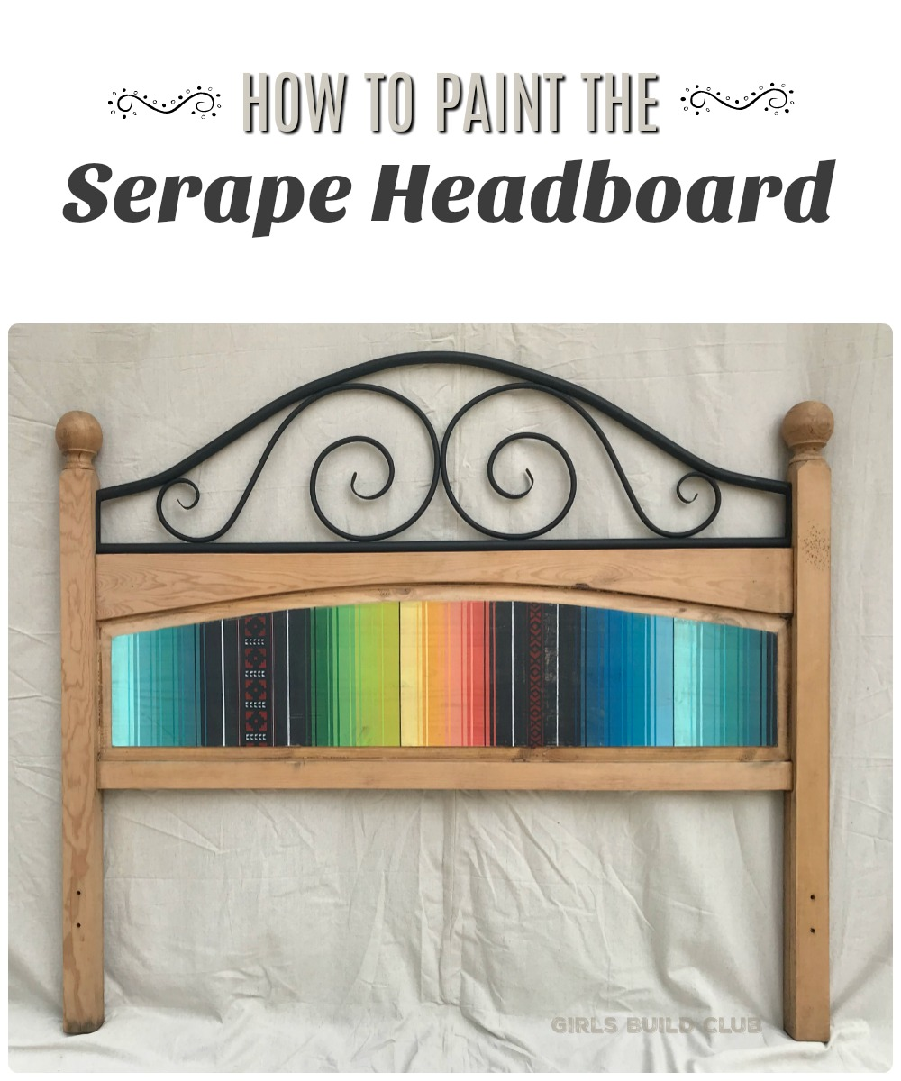 How To Paint The Serape Headboard Great Southwestern Boho Diy Project Add Some Color