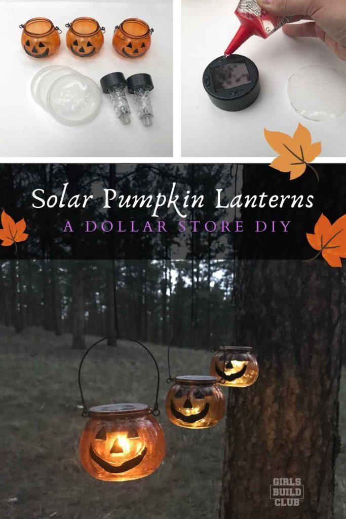 Halloween Pumpkin Solar Light Decor Dollar Store Diy Girls Build Club